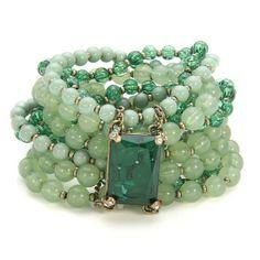 ⚘Magnifique bracelet de Jade et émeraude ⚘