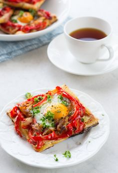 Roasted Red Bell Pepper & Egg Galette