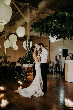 romantic industrial weddings - photo by Scarlet ONeill http://ruffledblog.com/industrial-space-meets-enchanted-forest-wedding