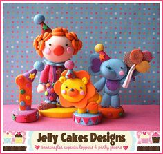 *POLYMER CLAY ~ Little Circus cake topper set by Jelly Lane Designs, via Flickr