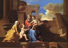 Nicolas Poussin, né au hameau de Villers, ( 1594 - 1665), est un peintre français du XVIIe siècle, représentant majeur du classicisme pictural. Depuis 1624, actif aussi en Italie. Peintre d'histoire, compositions religieuses, mythologiques, à personnages, paysages animés.