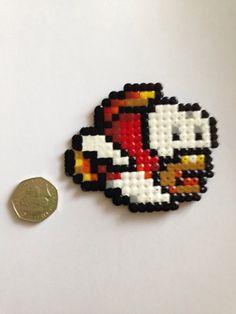 Super mario cheep cheep fish hama perler fuse bead by Otakubizu, £2.10