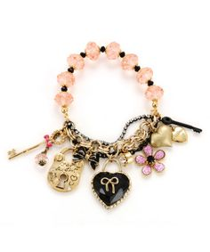 Heart Key charm bracelet - $55.00 at betseyjohnson.com