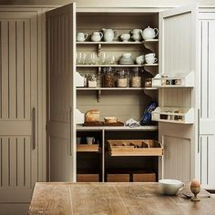 Clever storage idea in modern country style for style and convenience. Interior design ideas and inspiration from HOUSE by House & Garden.