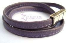 Wickelarmband aus feinstem Nappa - hellviolett