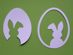 "3 templates for fast & simple Easter decorations made of paper: Easter Bunny & Tulip & ""Happy Easter"" - ostern - Cool Easter Eggs, Easter Art, Easter Crafts, Easter Bunny, Easter Decor, Weekend Crafts, Easter Activities, Easter Holidays, Happy Easter"
