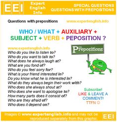 Questions with Prepositions