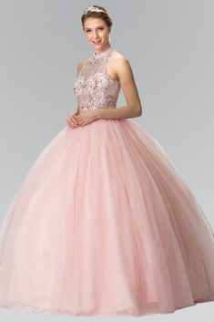 15c76560e99 Blush Pink Quinceanera Dress GLS 2206