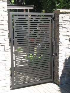 Contemporary Gate CustomMade by John Xochihua Front Gate Design, House Gate Design, Door Gate Design, Fence Design, Garden Design, Metal Garden Gates, Metal Gates, Garden Doors, Fence Doors