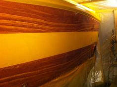 #TRANSOM: Callie Girl, Manteo North Carolina #Boat #Transom #BoatTransom  TRANSOM #TECHNIQUE: #GoldLeaf #FauxTeak   #BOAT #BUILDER #SpencerYachts , #NorthCarolina