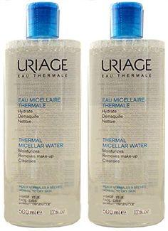 Uriage Thermal Micellar Water Oily Skin 8.4 fl. oz. Himalaya, Clarifying Mud Mask, 5.07 fl oz(pack of 2)