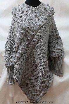 Пончо ручной работы. Ярмарка Мастеров - ручная работа пончо АДЕЛАИДА. Handmade.