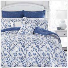 Laura-Ashley-Elise-Navy-7-piece-Twin-Size-Twin-Size-Bedding-Comforter-Set-New