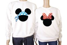 His and her's Mickey mouse matching sweatshirts. by iganiDesign on Etsy