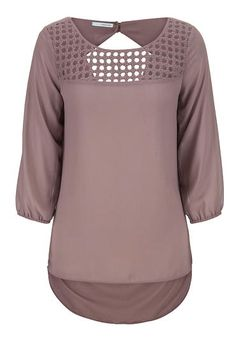 chiffon blouse with draped back (original price, $34) available at #Maurices