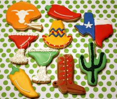 More cookie ideas for going away party.