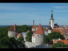Flying above Tallinn Old Town, City, Beach, Harbour - with DJI Phantom 2 Vision+ - YouTube