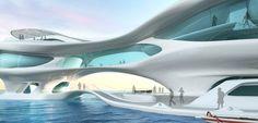 futuristic architecture, kuta beach, future buildings, futurist design, futuristic construction, marine research center, bali, indonesia, so...