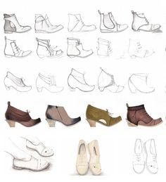 Fashion Sketchbook - footwear design drawings; shoes sketches; fashion portfolio // Tracey Fay Pepperd