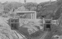 Av. 9 de julho -  Construção do Túnel - 1936