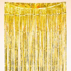 Add some serious pizzazz to your party with this fabulous metallic fringe door curtain Hang multiple drapes to create a fantastic photo backdrop, as shown in th
