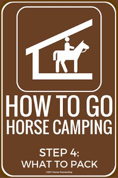How To Go Horse Camping: What to Pack
