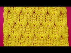 Hermoso Punto a crochet ganchillo con Relieves y puntos garbanzos para mantitas de bebe - YouTube