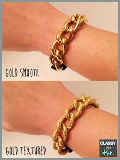 Bracelet and Hair Tie in one! Foldover elastic and Chunky Chain Bracelet Hair Ties. perfect for a functional, yet cute arm party!