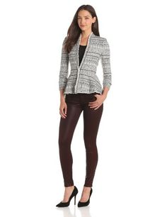 Rebecca Taylor Women's Basketweave Tweed and Chain Jacket, Black, 6 Rebecca Taylor,http://www.amazon.com/dp/B00DKYAXSC/ref=cm_sw_r_pi_dp_RyLOsb14GXC9TBAW