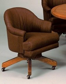 The Swivel Tilt Caster Dinette Chair By I.M. David Furniture Is Available  At Www.discountdinettes