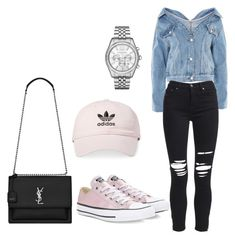 """""""Untitled #100"""" by iamalivee on Polyvore featuring Topshop, AMIRI, Yves Saint Laurent, adidas, Converse and MICHAEL Michael Kors"""