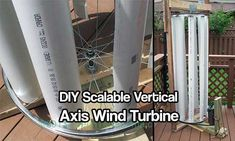 DIY Scalable Vertical Axis Wind Turbine - Whats good about this design is it has a low noise level. It can not be heard from 20m away. The average noise is lower than 45dB (A) in 8m/s wind speed. It is very suitable for the roof top mount in school, supermarket, park and other urban area.