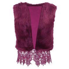 iShine Women's Fashion Gilet Winter Warm Short Coat Outwear Long Hair Slim Sleeveless Vest Faux Fur Waistcoat Jacket