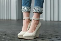 jeans with pearls! diy
