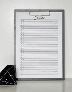 """minu.design: Kalender 2014 """"Mein Planer"""""""