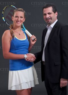 Tennis star, Victoria Azarenka, new celebrity endorsement ads for Citizen Eco-Drive watches.