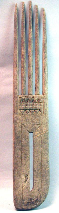 Wood Comb Saramacca Maroon Handcarved Jewelry Afro American Suriname Ethnix   eBay
