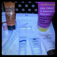 Skin Beautiful Collection Skin Beautiful Collection includes the following :   1 - I Love Mango and Papaya hand lotion  ( Full Size )  $8.00 1 - Anotomicals You Need A Blooming Shower body cleanser  ( Full Size )  $ 8.00  1 - Pevonia Power Repair Creme ( Sample Size )  $ 5.00  1 -  Biotherm Anti-Drying Body Milk ( Sample Size )  $ 7.00  1 - Sara St.James Clay Cleanser  ( Sample Size )  $ 6.00 1 - Naobay Oxygenating Moisturizing Cream  ( Sample Size )  $8.00  1 - Kerstin Florian Oil-Free…
