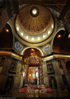 Bernini's Baldacchino, St Peter's Basilica, Vatican, Italy (photo by Christopher Chan, via Flickr)