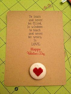 Teacher Valentine's card - change it up and make it bigger.