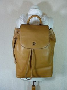 9d6ad785fb5 Brody Bark Brown Leather Backpack. Tory Burch ...
