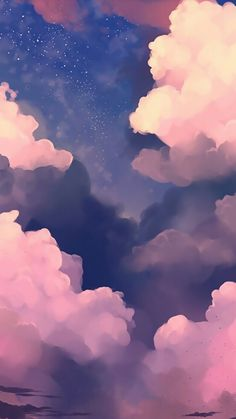 Painted clouds #reference.