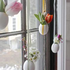 fenetre maison oeuf blanc fleur ruban couleur