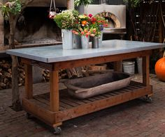 Design Sleuth: Gardener's Work Table at Lila B. Design