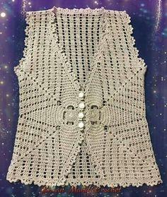 Ca si croiala pt bluze Débardeurs Au Crochet, Gilet Crochet, Crochet Jacket, Crochet Woman, Crochet Cardigan, Crochet Baby, Crochet Skirt Pattern, Crochet Poncho Patterns, Crochet Festival Dresses