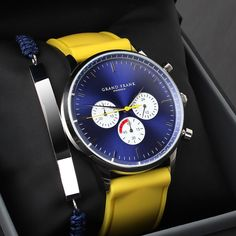 The chronograph above is a work in progress. A limited number of models will be released and come with both a leather and silicon strap. What are your spontaneous thoughts about the watch and how do you feel about the colour combination?  www.Grandfrank.com