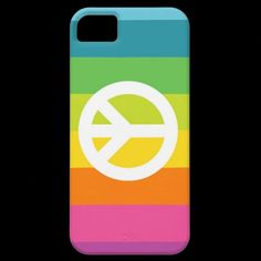 Rainbow Peace Sign iPhone 5 Cases