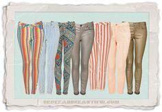 Patterned pants, bright pants, loud pants!