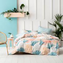 Linen House Belardo Peach Queen Quilt Cover Set