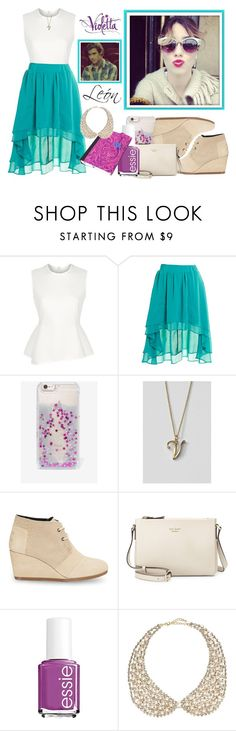 Violetta Style #7 by violetta-leonetta on Polyvore featuring beauty, Essie, Skinnydip, River Island, Lands' End, Kate Spade, Alexander Wang, Staring At Stars and TOMS